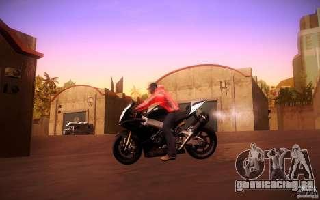 Aprilia RSV-4 Black Edition для GTA San Andreas вид сзади
