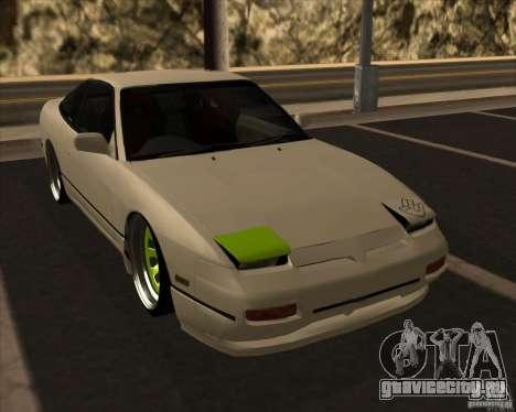 Nissan 180SX JDM для GTA San Andreas вид изнутри
