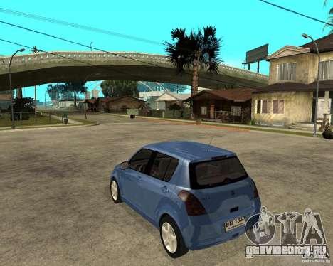 2007 Suzuki Swift для GTA San Andreas вид слева