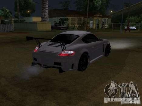Porsche Cayman S NFS Shift для GTA San Andreas вид сзади слева