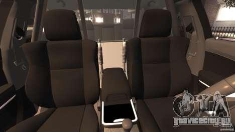 Dodge Charger RT Max Police 2011 [ELS] для GTA 4 вид изнутри