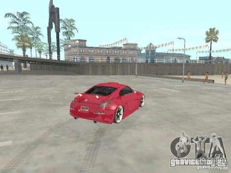 Nissan 350Z v2 для GTA San Andreas вид сзади слева