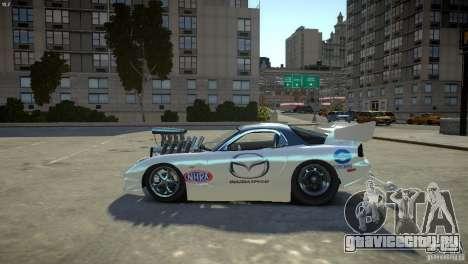 Mazda rx7 Dragster для GTA 4 вид слева