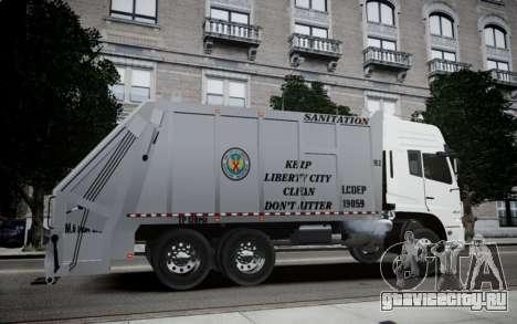 Dongfeng Denon Garbage Truck для GTA 4 вид слева