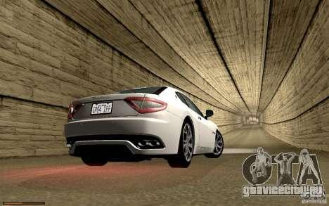 Maserati Gran Turismo 2008 для GTA San Andreas салон