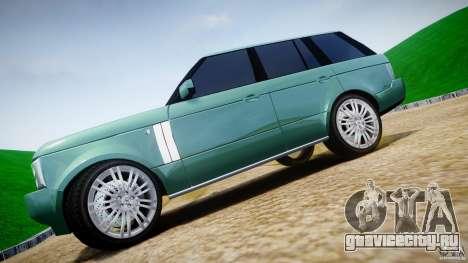 Range Rover Vogue для GTA 4 вид сверху