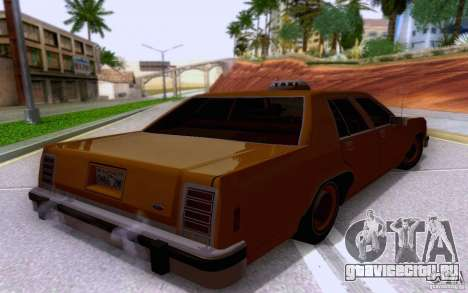 Ford Crown  Victoria LTD 1985 taxi для GTA San Andreas вид слева