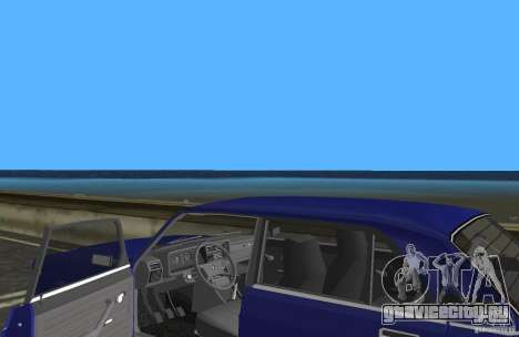 ВАЗ 2107 Жигули для GTA Vice City вид изнутри