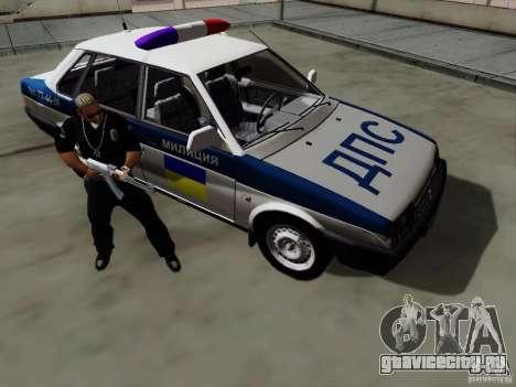 ВАЗ 21099 Полиция для GTA San Andreas вид изнутри
