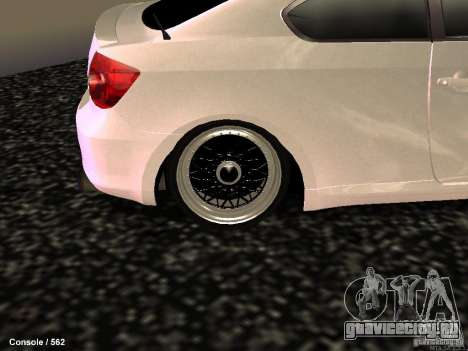 Toyota Scion для GTA San Andreas вид сзади