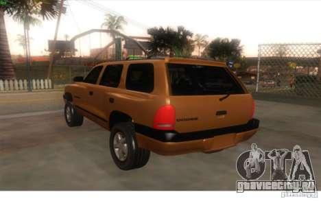 Dodge Durango 1998 для GTA San Andreas вид слева