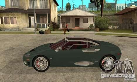 Spyker C8 Laviolete для GTA San Andreas вид слева
