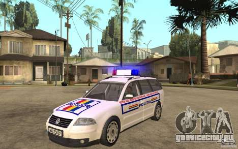 VW Passat B5 Variant Politia Romana для GTA San Andreas