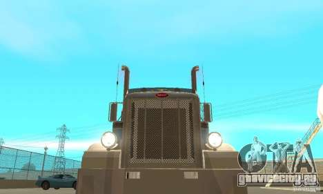 Peterbilt 379 Custom And Tanker Trailer для GTA San Andreas вид сбоку