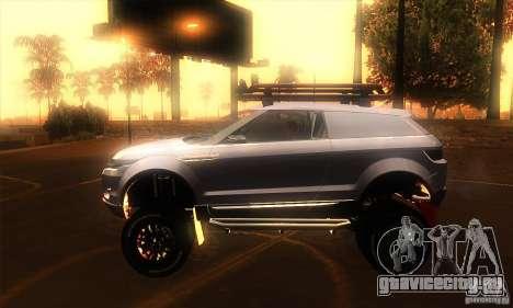 Land Rover Evoque для GTA San Andreas вид слева