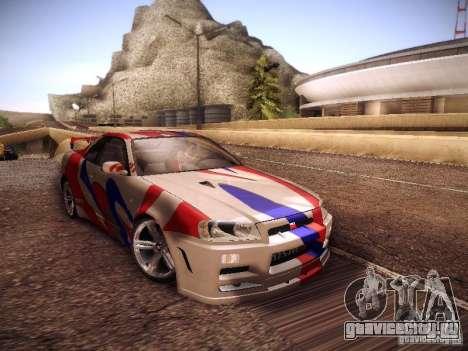 Nissan Skyline full tune для GTA San Andreas