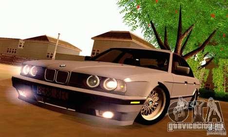 BMW E34 525i для GTA San Andreas вид изнутри