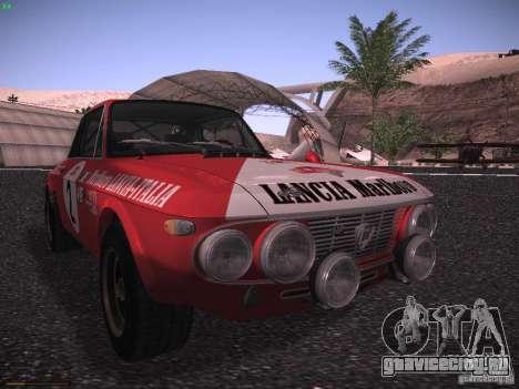 Lancia Fulvia Rally Marlboro для GTA San Andreas вид слева