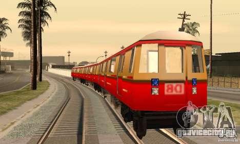 Liberty City Train DB для GTA San Andreas вид сзади слева