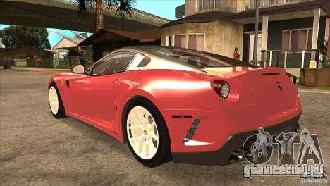 Ferrari 599 GTO 2010 V1.0 для GTA San Andreas вид сзади слева