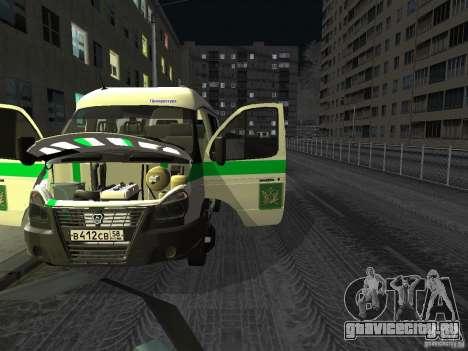 ГАЗель 3302 Бизнес для GTA San Andreas вид сзади
