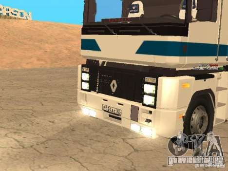 Renault Magnum Sommer Container для GTA San Andreas вид сзади