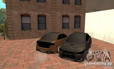 Mitsubishi Lancer Evolution Dag Style для GTA San Andreas вид справа