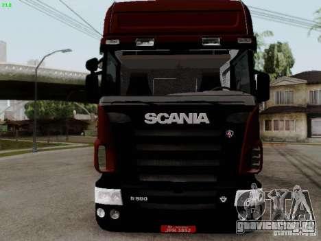 Scania R580 V8 Topline для GTA San Andreas вид слева
