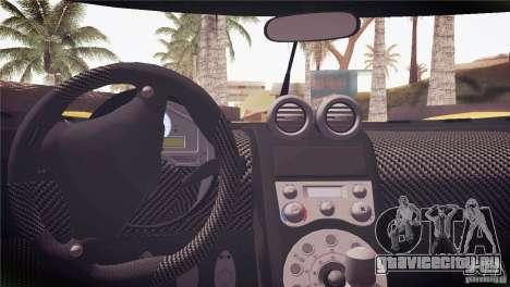 Koenigsegg CCX 2006 v2.0.0 для GTA San Andreas двигатель