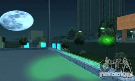 Зелёный цвет фар для GTA San Andreas