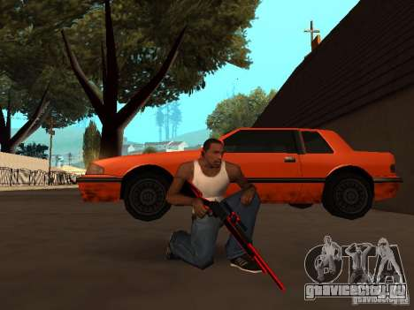 Red Chrome Weapon Pack для GTA San Andreas девятый скриншот