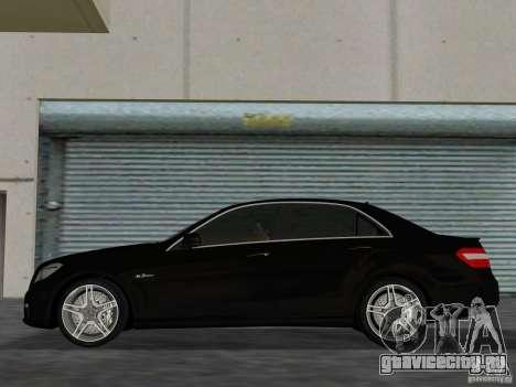 Mercedes-Benz E63 AMG для GTA Vice City вид сзади слева