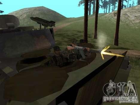 M2A3 Bradley для GTA San Andreas вид изнутри