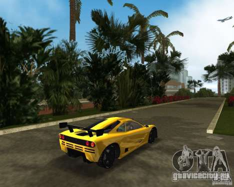 McLaren F1 LM для GTA Vice City вид сзади слева