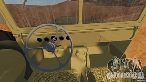 Dodge WC-62 3 Truck для GTA 4 вид сзади