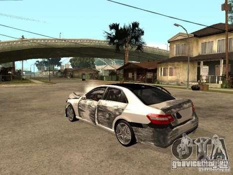 Mercedes-Bens e63 AMG для GTA San Andreas вид изнутри