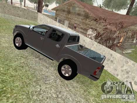 Toyota Hilux для GTA San Andreas вид сзади