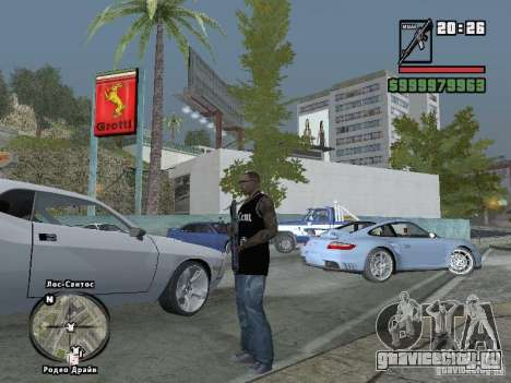 Майка 50 cent для GTA San Andreas пятый скриншот