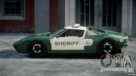Ford GT1000 Hennessey Police 2006 [EPM][ELS] для GTA 4 вид изнутри