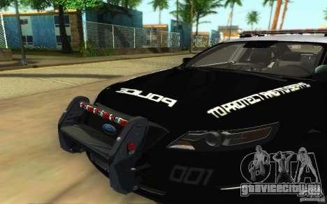 Ford Taurus 2011 LAPD Police для GTA San Andreas вид изнутри