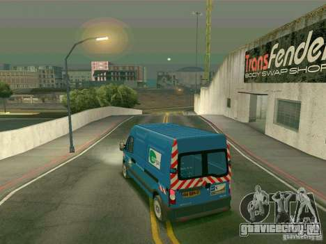 Renault Master для GTA San Andreas вид сзади слева