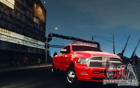 Dodge Ram 3500 Stock Final для GTA 4 вид изнутри