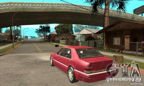 Mercedes-Benz S600 1999 для GTA San Andreas вид справа