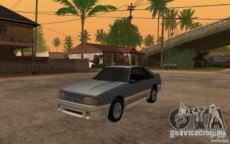 Ford Mustang GT 5.0 1993 для GTA San Andreas вид слева