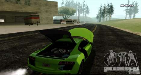 Audi R8 Light Tuned Version для GTA San Andreas вид сзади слева