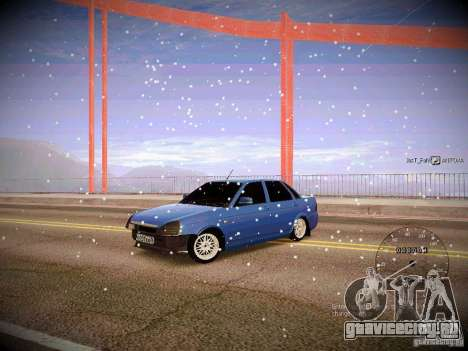 Lada Priora Turbo v2.0 для GTA San Andreas вид сзади слева
