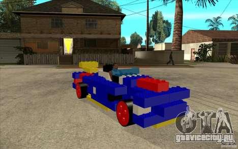 LEGO мобиль для GTA San Andreas вид сзади