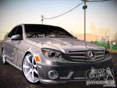 Mercedes-Benz С63 AMG для GTA San Andreas вид сзади слева