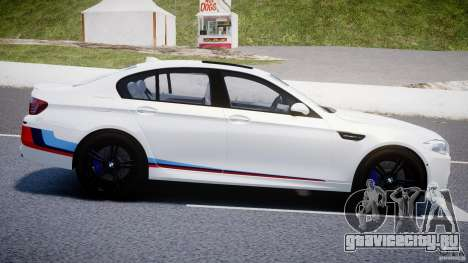 BMW M5 F10 2012 M Stripes для GTA 4 вид слева