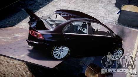 Mitsubishi Lancer X для GTA 4 салон